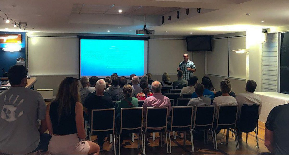 Adrian Percival giving a presentation at club info night